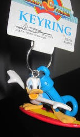 Walt Disney Collectibles - Donald Duck Surfer Keychain Clip Keyring