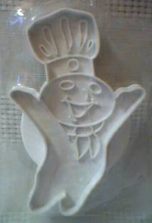 Pillsbury Collectibles - Poppin' Fresh Dough Boy Plastic Cookie Cutter