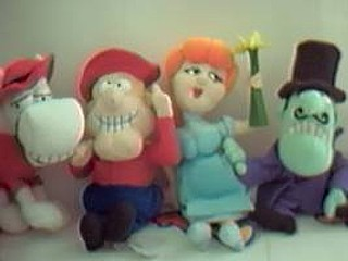 Dudley Do Right Collectibles - Dudley Do Right, Nell Fenwick, Snidely Whiplash, Horse Bean Bag Characters
