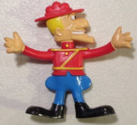 Dudley Do Right Collectibles - Dudley Do-Right Bendable Bendy Rubber Figure
