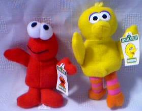 Sesame Street - Big Bird and Elmo Mini Beanie