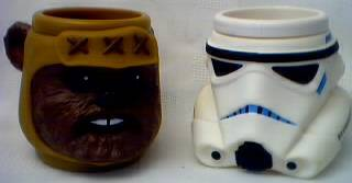 Star Wars Collectibles - Wicket Ewok and Storm Trooper Cup Mug