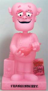 General Mills Cereal Collectibles - Frankenberry Glow in the Dark Bobble Bank