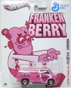 General Mills Cereal Collectibles - Frankenberry Hot Wheels Diecast Car