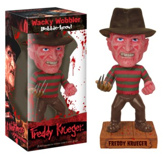 Horror Movie Collectibles - Freddy Krueger Nightmare on Elm Street Bobblehead dolls, nodders