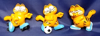 Garfield Collectibles - Garfield PVC Figures Soccer Jogging Roller Skates