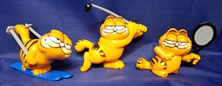 Garfield Collectibles - Garfield PVC Figures Skiing Tennis Golf
