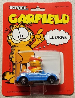 Garfield Collectibles - Garfield ERTL Car - Sports Car with Beret