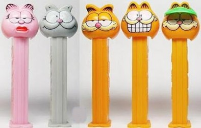 Garfield Collectibles - Garfield arlene and Nermal PEZ Dispensers