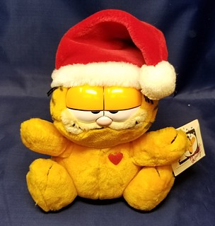 Garfield Collectibles - Garfield Winter Christmas Plush Santa Hat