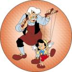 Walt Disney - Gepetto and Pinocchio Pinback Button
