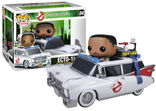 Movies from the 1980's Collectibles Ghostbusters Ecto-1 and Zeddemore POP! Rides Vinyl Figure