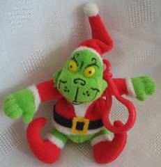 Cartoon Characters Collectibles - Doctor Seuss Grinch That Stole Christmas Finger Puppet