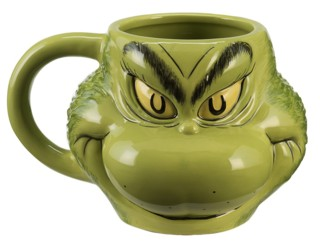 Cartoon Characters Collectibles - Doctor Seuss The Grinch Who Stole Christmas Sculpted Ceramic Mug