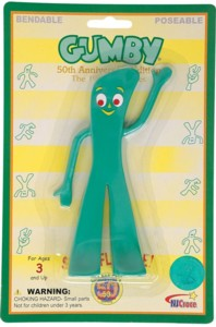 Cartoon Collectibles - Gumby Bendy Figure