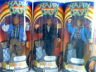 Fonzie, Richie & Potsie Dolls or Action Figures from Happy Days