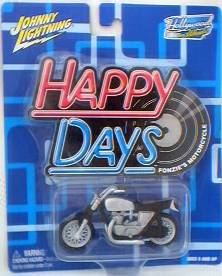 Happy Days - 1970's Television Show Collectibles - Fonzie Motorcycle Die Cast