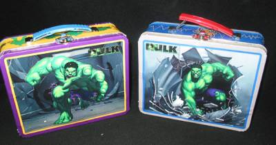 Super Hero Collectibles - Incredible Hulk Mini Lunch Boxes