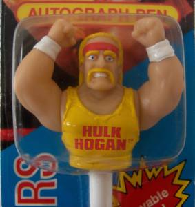 Pro Wrestling Collectibles - WWF World Wrestling Federation Hulkamania Pen & Topper