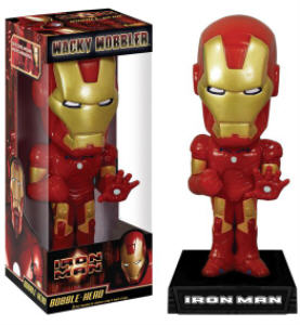 Super Hero Collectibles - Marvel Comics - Iron Man Bobblehead Doll Nodder