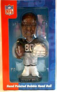 National Football League - NFL Jerry Rice Los Angeles Raiders Bobblehead Doll