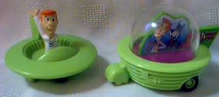 Cartoon Collectibles - The Jetsons - Jetsons in Friction Flying Saucers