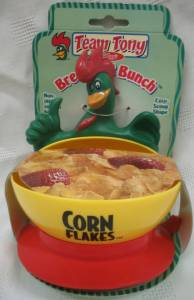 Kellogg's Collectibles - Corny Rooster Corn Flakes Plastic Cereal Bowl with Suction Cup