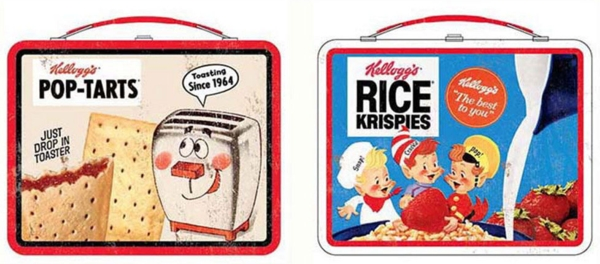 Kellogg's Collectibles - Pop Tarts Toaster and Snap Crackle Pop Rice Krispies Metal Lunch Box Tins