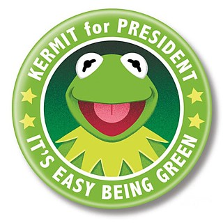 Muppets Collectibles - Kermit for President Pinback Button