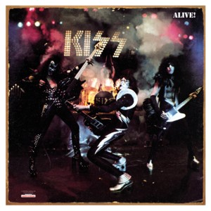 KISS Collectibles - Kiss Alive! Album Cover Tin Metal Sign