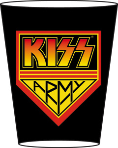 Rock and Roll Collectibles - Kiss Army Shot Glass