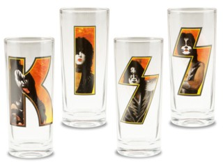 KISS Collectibles - Gene, Paul, Tommy and Eric Letter Glasses