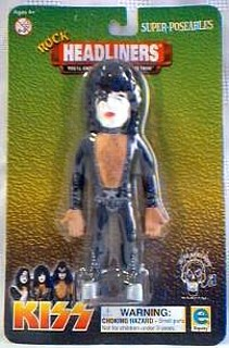 Rock and Roll Collectibles - Bendy Kiss Paul Stanley Bendie