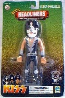 Rock and Roll Collectibles - Bendy Kiss Peter Criss Bendie