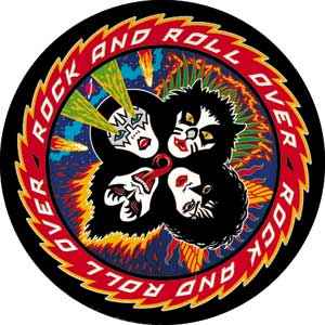 Rock and Roll Collectibles - Kiss Rock and Roll Over Pinback Button