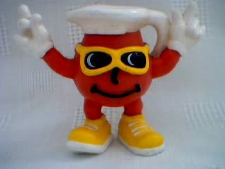 Advertising Collectibles - KoolAid Man PVC Plastic Rubber Figure with Sunglasses