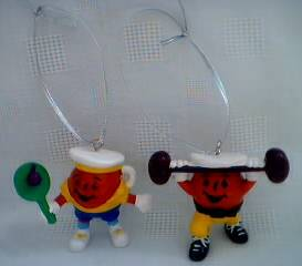 Advertising Collectibles - KoolAid - KoolAid Man Xmas Ornaments