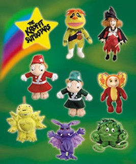 Television from the 1960's - 1970's Collectibles - Sid & Marty Krofft - Krofft Superstars Beanies Plush Bean Bags