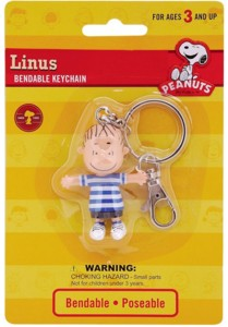 Snoopy and Peanuts Collectibles - Linus Van Pelt Bendy Keychain
