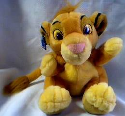 Walt Disney Movie Collectibles - Lion King Simba Plush Hand Puppet