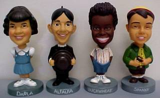 Television Collectibles - Little Rascals Our Gang Spanky, Alfalpha, Darla, Buckwheat Bobble Head Nodder Doll