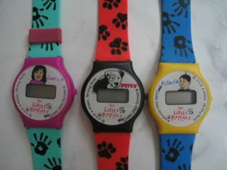 Television Collectibles - Little Rascals Our Gang Darla, Petey, Alfalpha Digital Watches