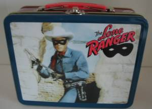 Television Show Collectibles - Lone Ranger and Silver Metal Lunch Box Tin