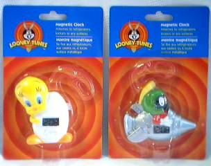 Looney Tunes Collectibles - Marvin the Martian and Tweety Bird LCD Magnetic Clocks