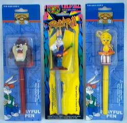 Looney Tunes Collectibles - Bugs Bunny, Tasmanian Devil and Tweety Bird Pens