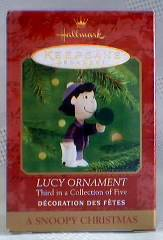 Snoopy Collectibles - Lucy Van Pelt Hallmark Keepsake XMas Ornament