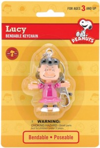 Snoopy and Peanuts Collectibles - Lucy Van Pelt Bendy Keychain