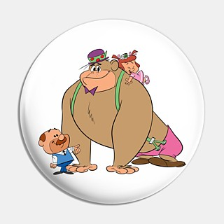 Television Character Collectibles - Hanna Barbera's Magilla Gorilla, Mr. Peebles and Ogee Pinback Button
