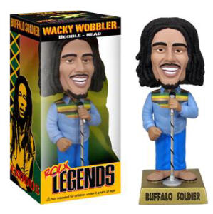Rock and Roll Collectibles - Bob Marley Buffalo Soldier Bobble Head Nodder Doll