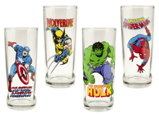 Marvel Comics The Avengers Collectible Character Glasses